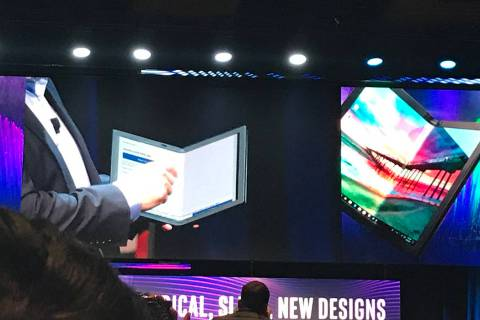 """Intel showcased its concept foldable PC with the code name """"Horseshoe Bend"""" at a pre-CES ne ..."""