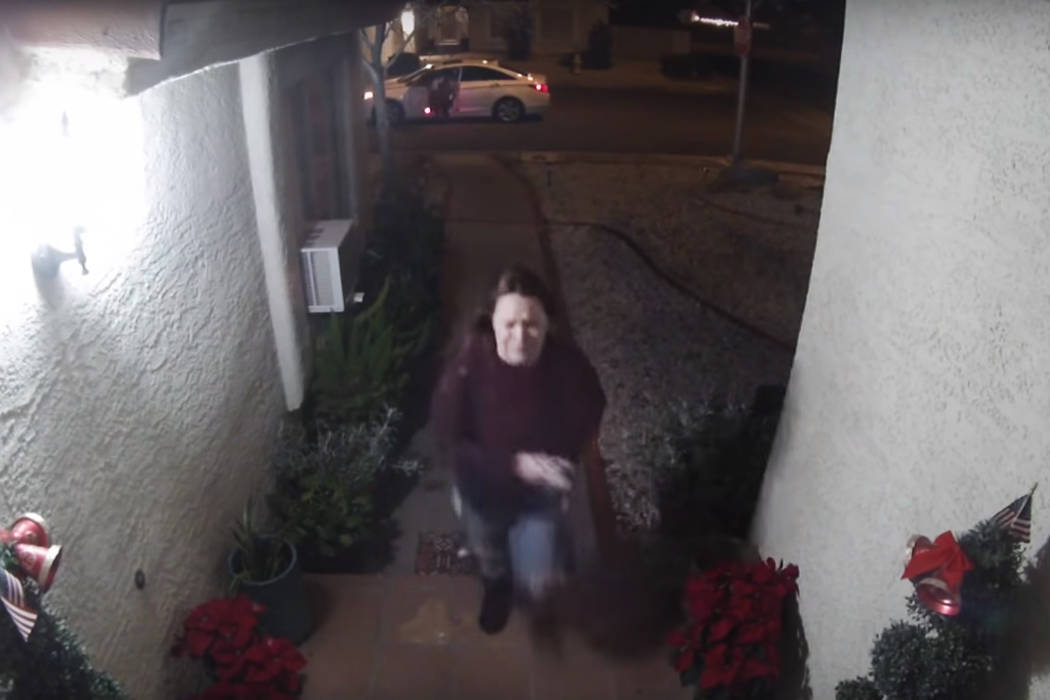 The Las Vegas Metropolitan Police Department released home surveillance video showing an appare ...