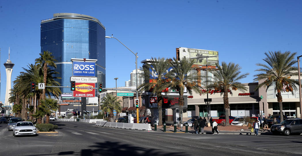 Silver City Plaza on the Strip at Convention Center Drive in Las Vegas Thursday, Jan. 2, 2020. ...