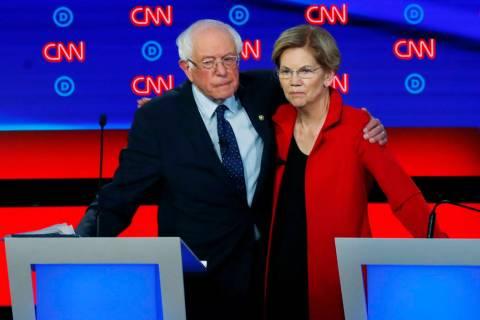 Sen. Elizabeth Warren and Sen. Bernie Sanders have had staff members in Nevada since the beginn ...