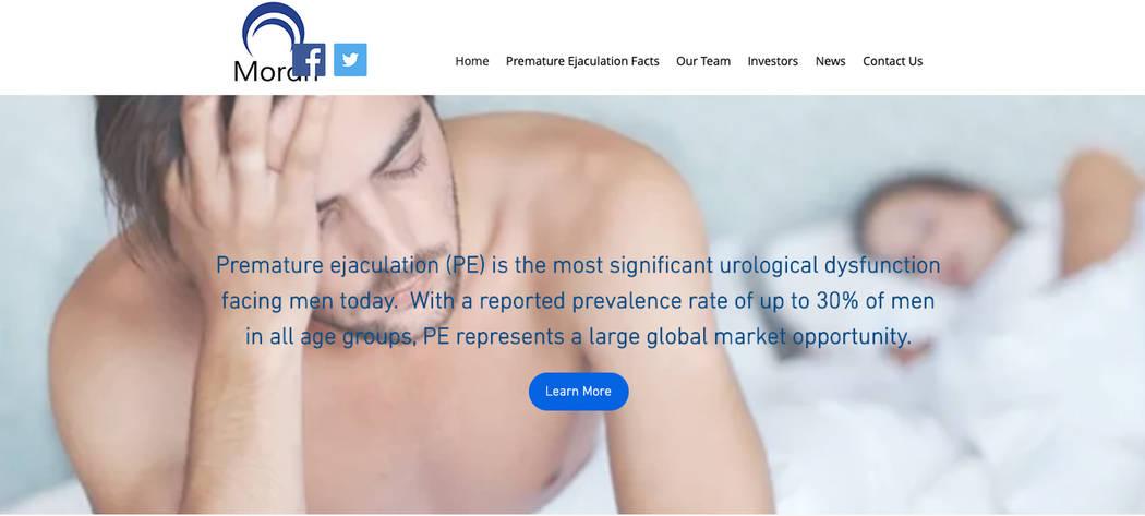 Screen grab of Morari Medical's website