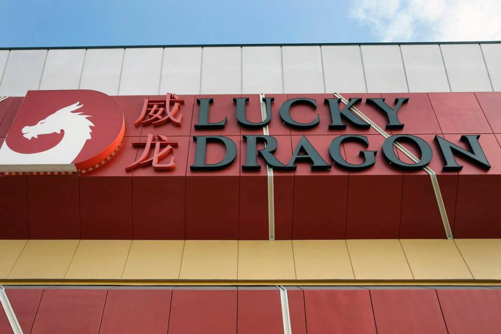 The exterior of Lucky Dragon, which shut down gaming and casino restaurant operations in early ...