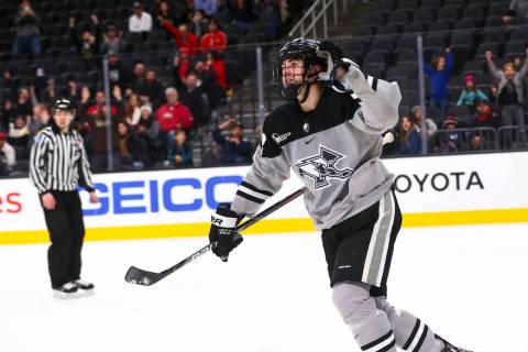 Providence Friars' Jack Dugan reacts after scoring against Cornell to win the game in a shootou ...