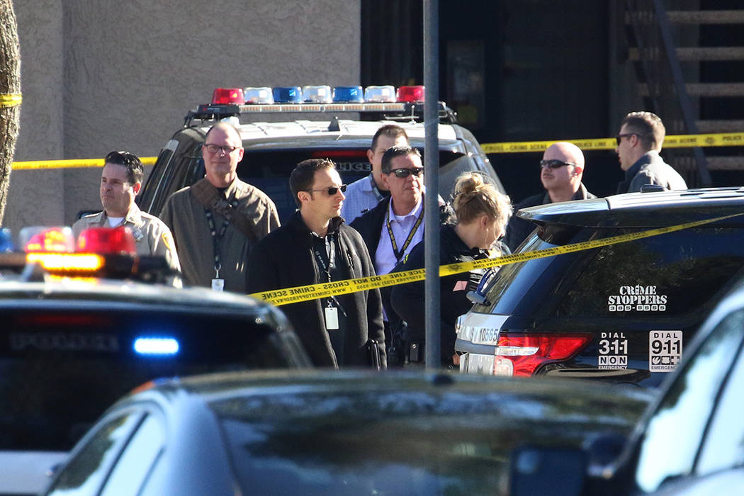Las Vegas police are investigating officers involved in a shooting at an apartment complex in t ...