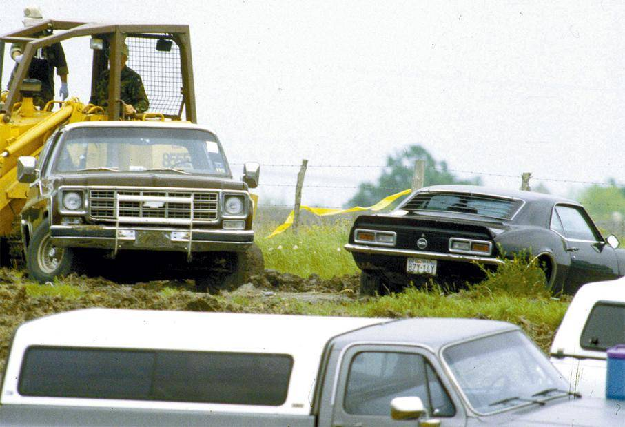 The 1968 Camaro once owned by Branch Davidian leader David Koresh is shown during the siege of ...