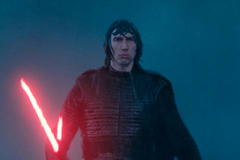 "This image released by Disney/Lucasfilm shows Adam Driver as Kylo Ren in a scene from ""Sta ..."