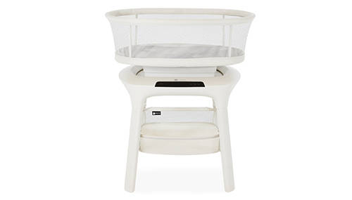 The mamaRoo sleep bassinet aims to help babies fall asleep and stay asleep with its five motion ...