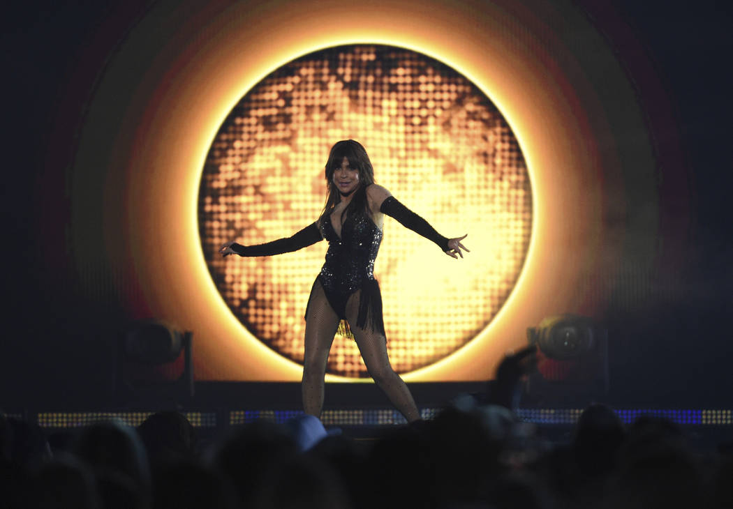 Paula Abdul performs a medley at the Billboard Music Awards on Wednesday, May 1, 2019, at the M ...