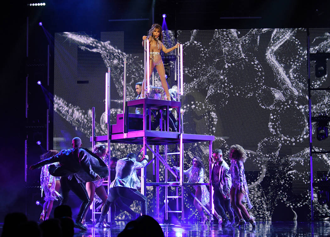 """Paula Abdul performs during her headlining residency show, """"Paula Abdul: Forever Your Girl,"""" on ..."""