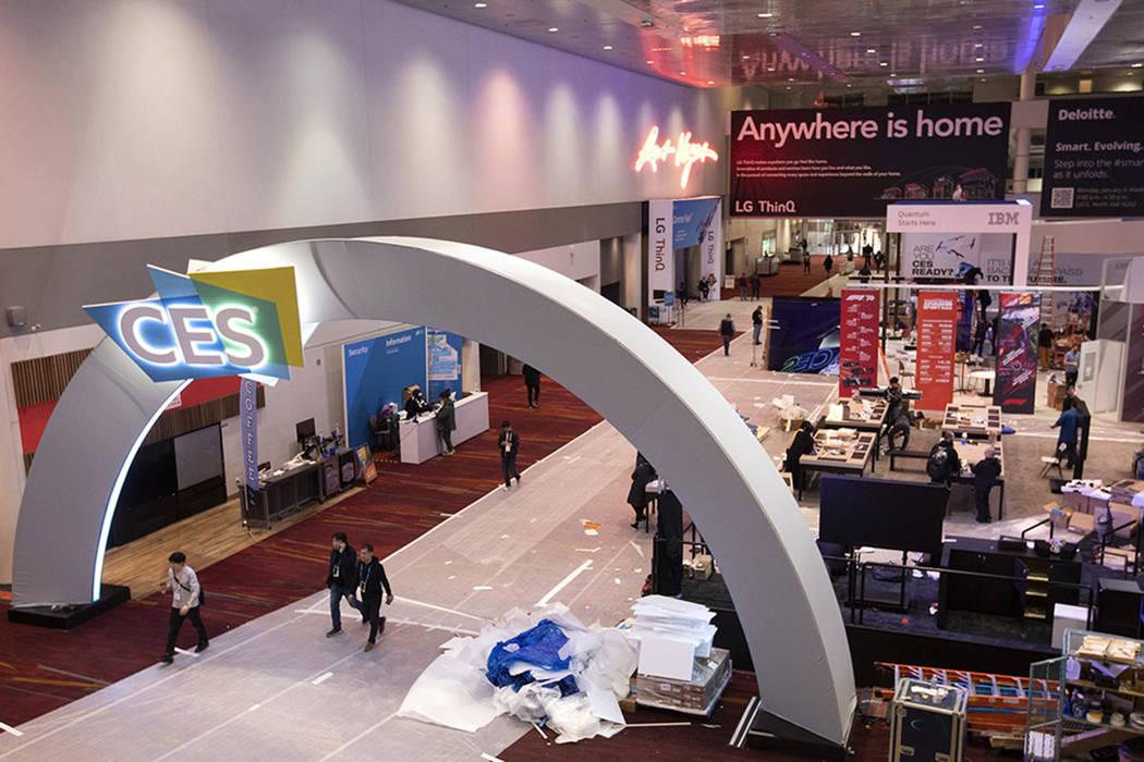 CES at the Las Vegas Convention Center on Sunday, Jan. 5, 2020, in Las Vegas. (Ellen Schmidt/La ...