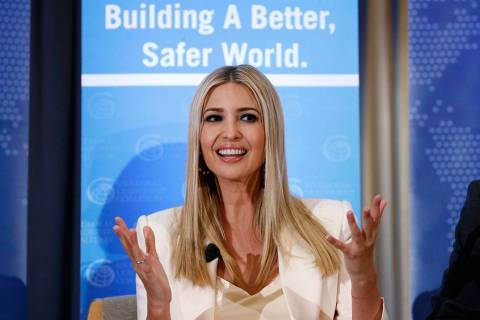 Ivanka Trump, daughter of President Donald Trump, speaks at a roundtable discussion to announce ...