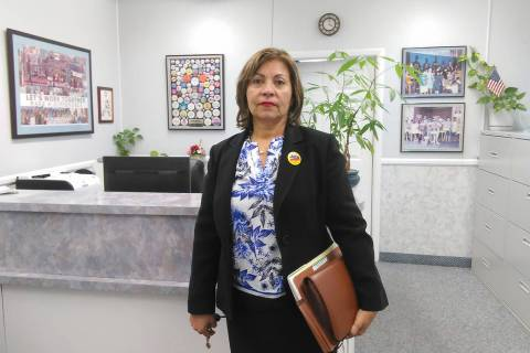 Secretary-treasurer of the Culinary Union Workers Local 226 Geoconda Arguello-Kline has been ap ...