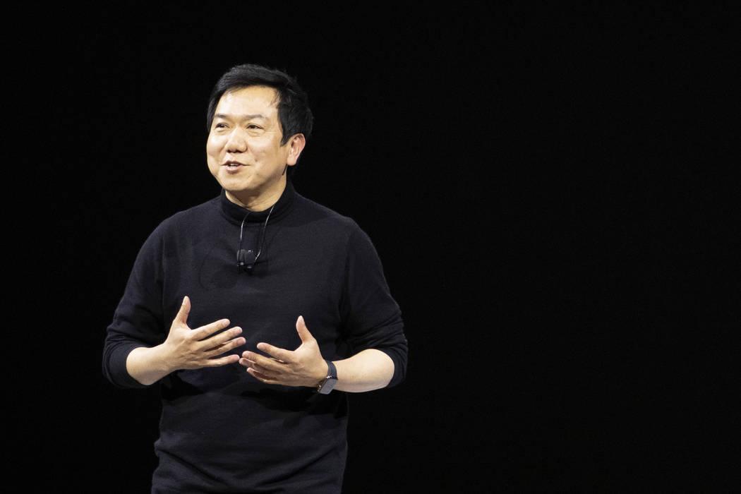 SangYup Lee, head of the Hyundai Design Center, speaks at the Hyundai Motor Company Media Days ...