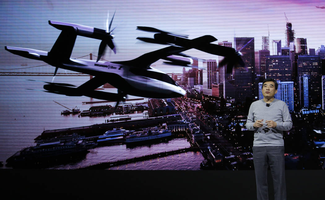 Jaiwon Shin, Head of Urban Air Mobility, speaks about the S-A1 urban air taxi concept during a ...