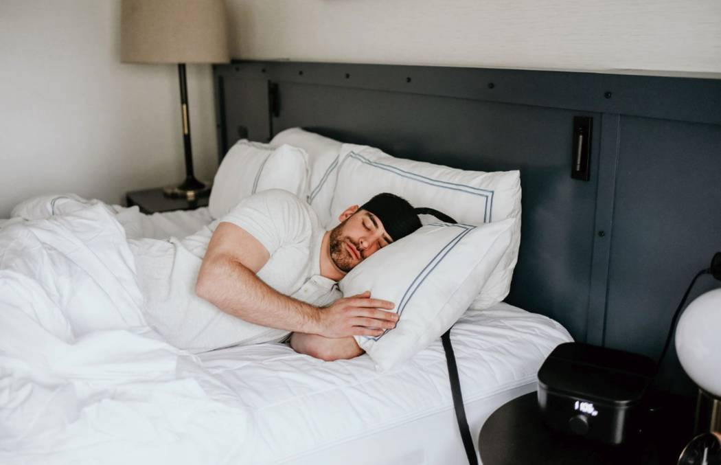 Ebb Therapeutics showcased its wearable device that cools the brain to improve sleep. (Ebb Ther ...