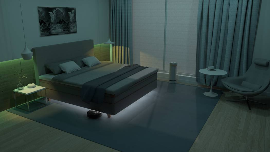Swedish luxury bedmaker DUX introduced its Element, designed to make your bed the center of you ...