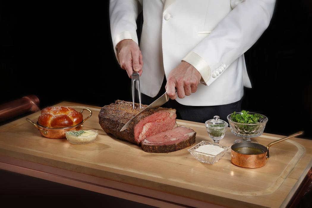 Bellagio-Mayfair Supper Club Prime carving Prime Rib on cart (MGM Resorts International)