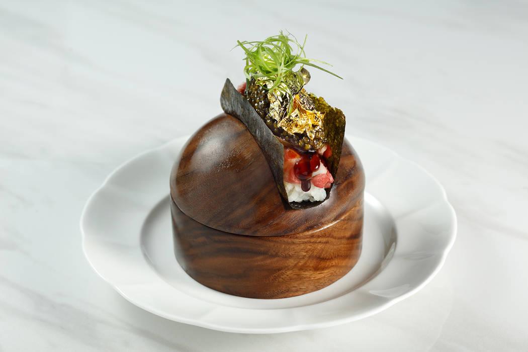 Bellagio-Mayfair Supper Club Prime Rib Caviar Roll (MGM Resorts International)