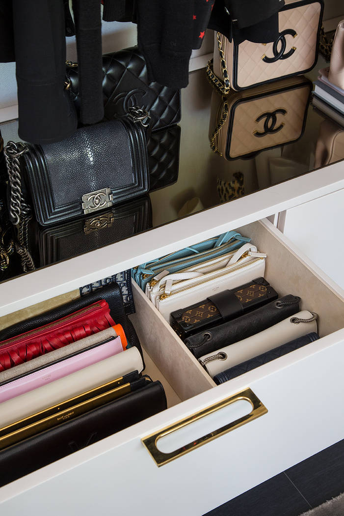LA Closet Design The best way to complement a stunning handbag collection is with a clutch draw ...
