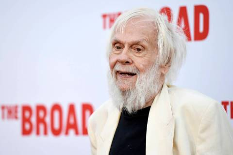 FILE - In this Thursday, Sept. 17, 2015, file photo, artist John Baldessari poses at The Broad ...