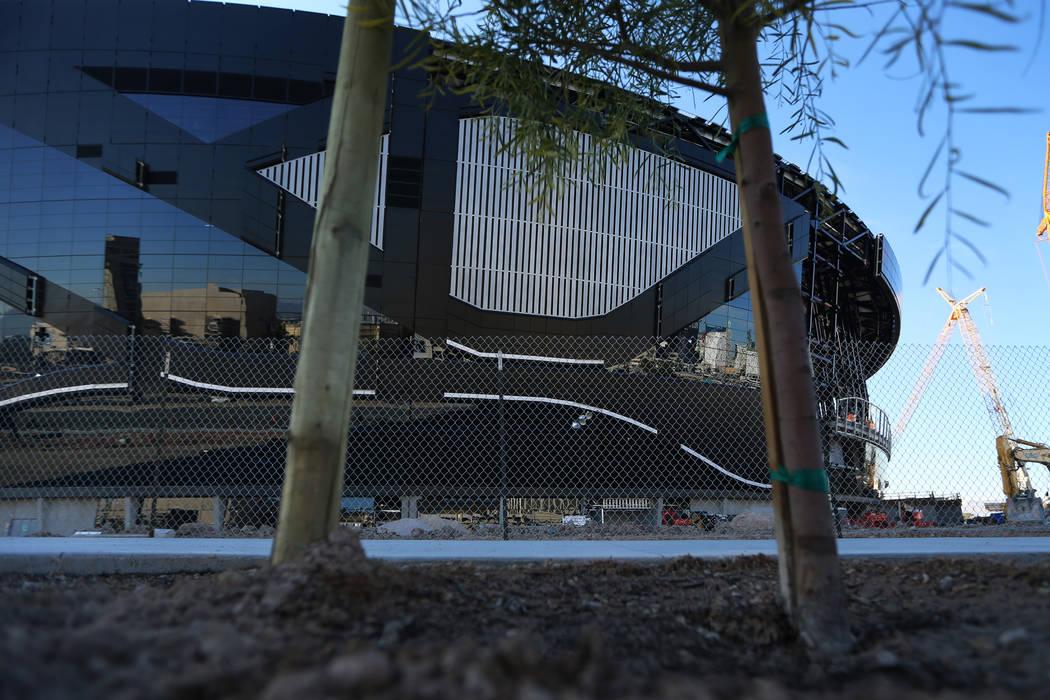 The Raiders Allegiant Stadium in Las Vegas, Wednesday, Jan. 1, 2020. (Erik Verduzco / Las Vegas ...