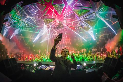 EDM star Tiesto, shown performing at Hakkasan Nightclub at MGM Grand is among Hakkasan's 2020 h ...