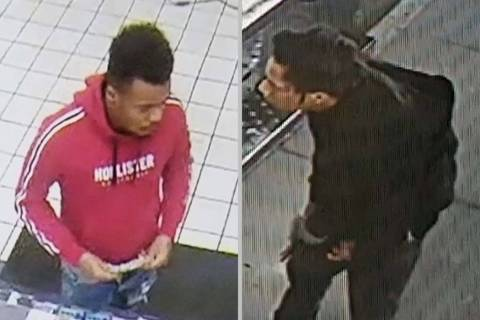 Las Vegas police detectives are asking for the public's help in identifying two men who may h ...