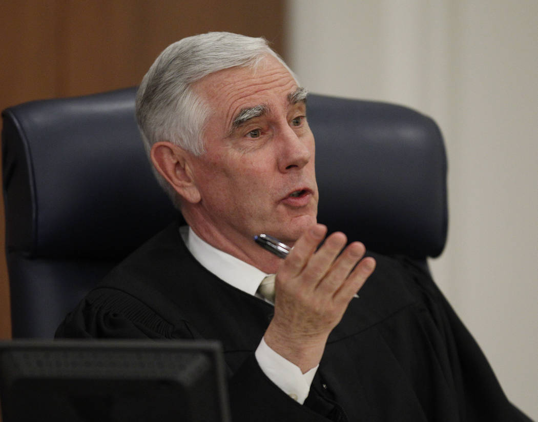 JOHN LOCHER/LAS VEGAS REVIEW-JOURNAL District Judge James Todd Russell speaks in his court in ...