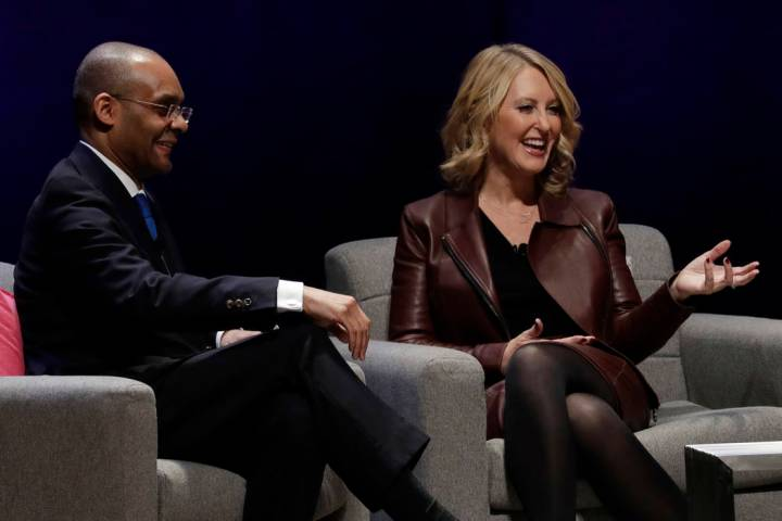 Robert Gulliver, left, NFL Executive Vice President, Human Resources, and Michelle McKenna, NFL ...