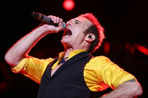 David Lee Roth of Van Halen performs at the Irvine Meadows Amphitheatre on Tuesday, July 14, 20 ...