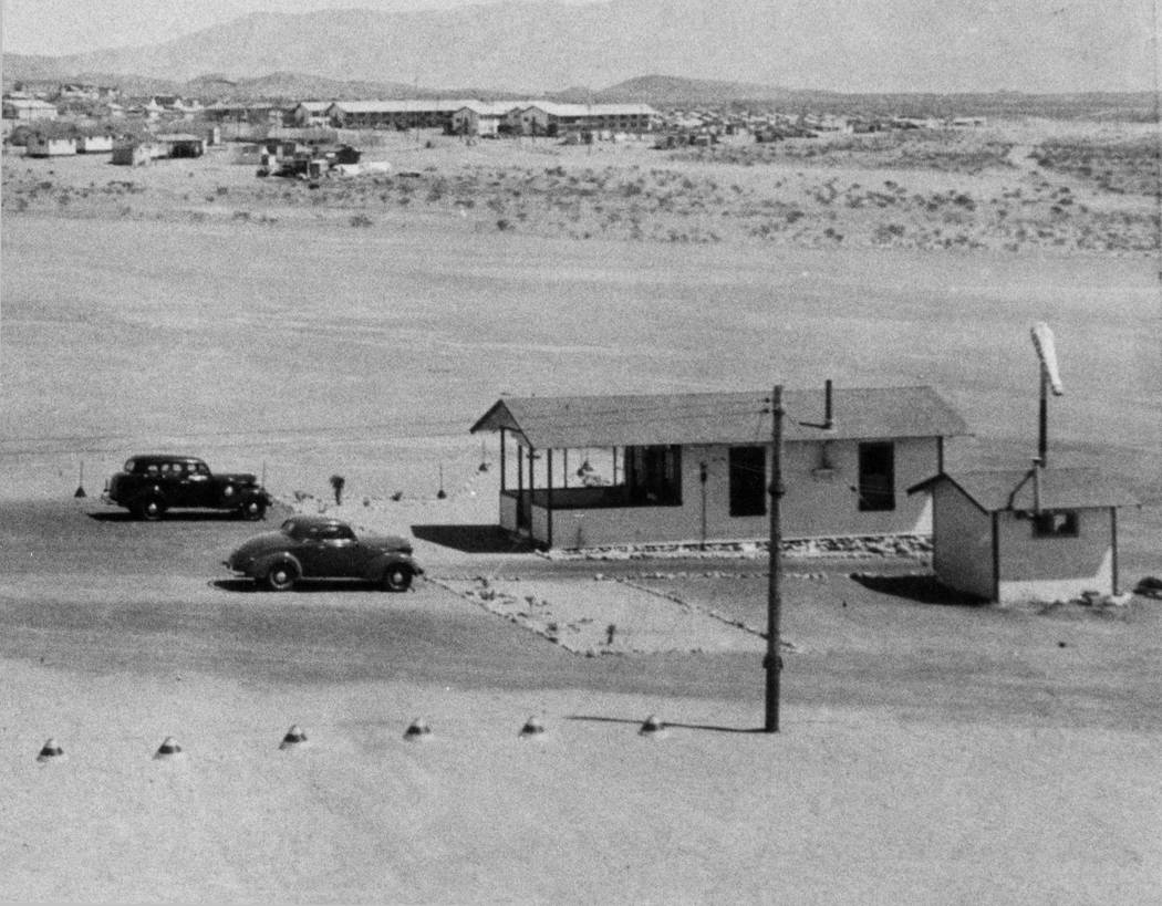 Grand Canyon Airlines' ticket building is pictured March 30, 1937 at the Boulder City airport. ...