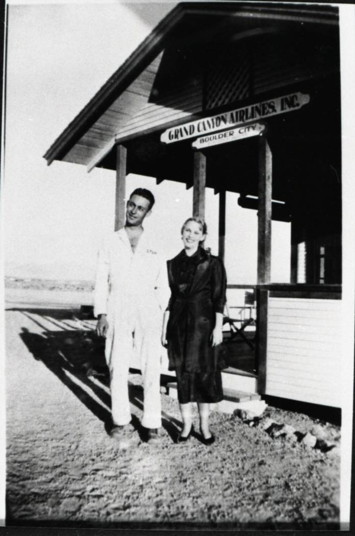 Grand Canyon Airlines' ticket building is pictured in the 1930s. (Courtesy of Clark County Museum)