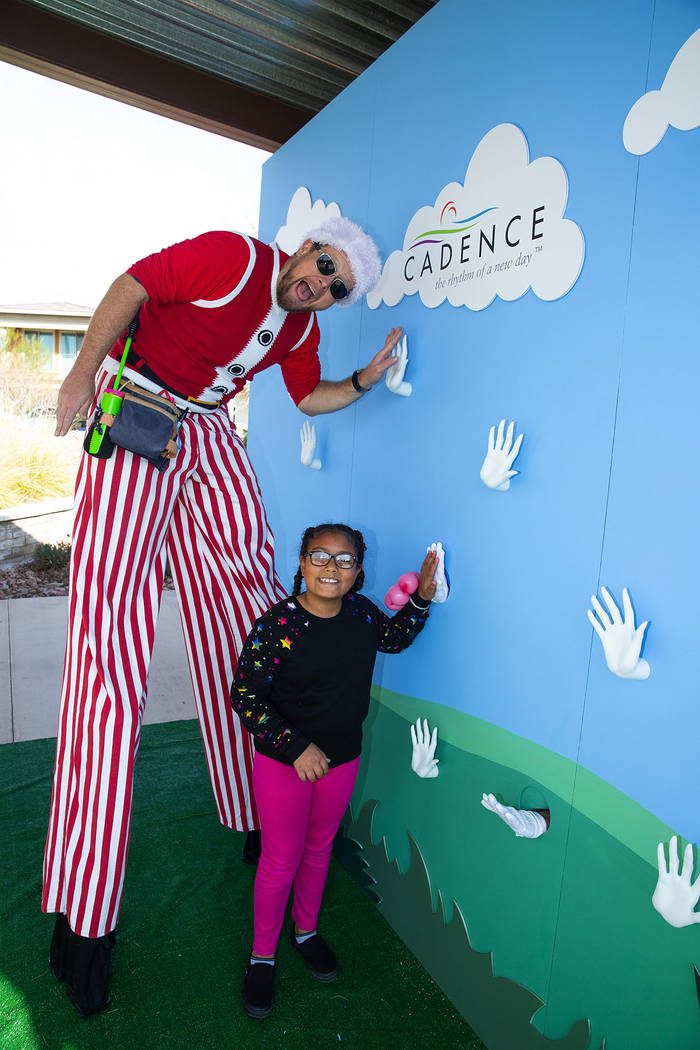 """The Cadence event featured a """"high-five"""" selfie wall. (Studio J. Inc./Eric Jamison)"""