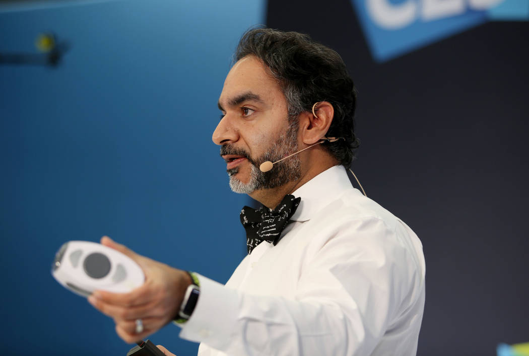 Dr. Samir Qamar, a Las Vegas physician and CEO of MedWand Solutions Inc., presents the MedWand ...