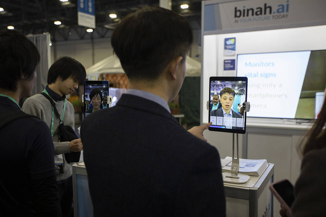 The Binah.ai app on Wednesday, Jan. 8, 2020, at CES at Sands Expo in Las Vegas. The health-focu ...