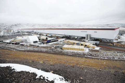 The Tesla Gigafactory, east of Reno, Nev.Cathleen Allison Special to Las Vegas Review-Journal