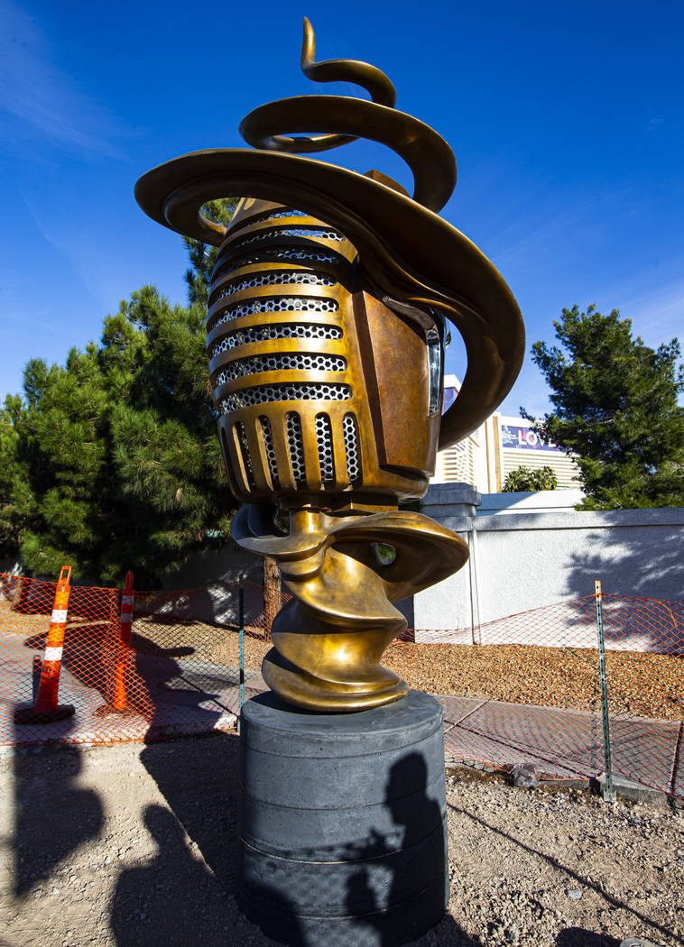 """Artist Wayne Littlejohn talks about his sculpture, """"Spin Baby,"""" at the intersection o ..."""