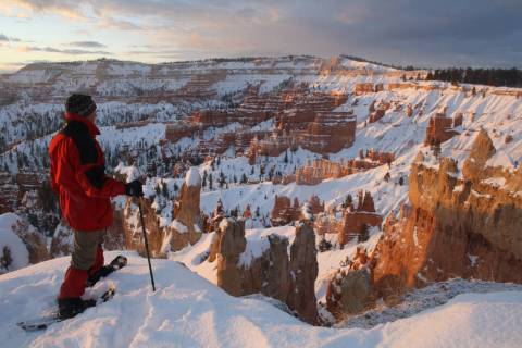 With plenty of snow, Bryce is a great place for cross-country skiing and snowshoeing along the ...