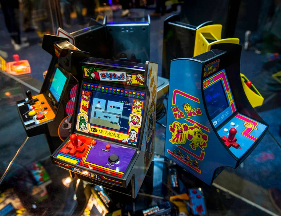 Portable Gaming Systems from My Arcade on display in the South Hall for CES 2020 Day 2 at the L ...