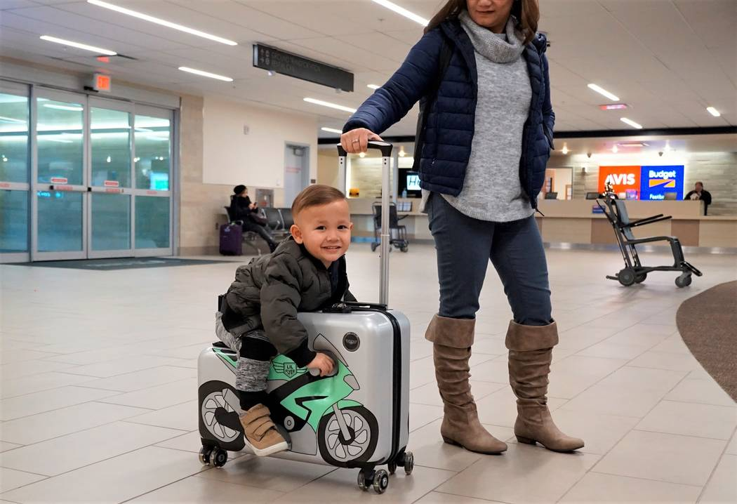 The Lil Flyer ride-on luggage for children is made to entertain children up to 50 pounds. (Cour ...