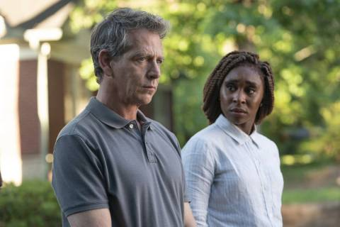 "Ben Mendelsohn and Cynthia Erivo in ""The Outsider."" (Bob Mahoney/HBO)"