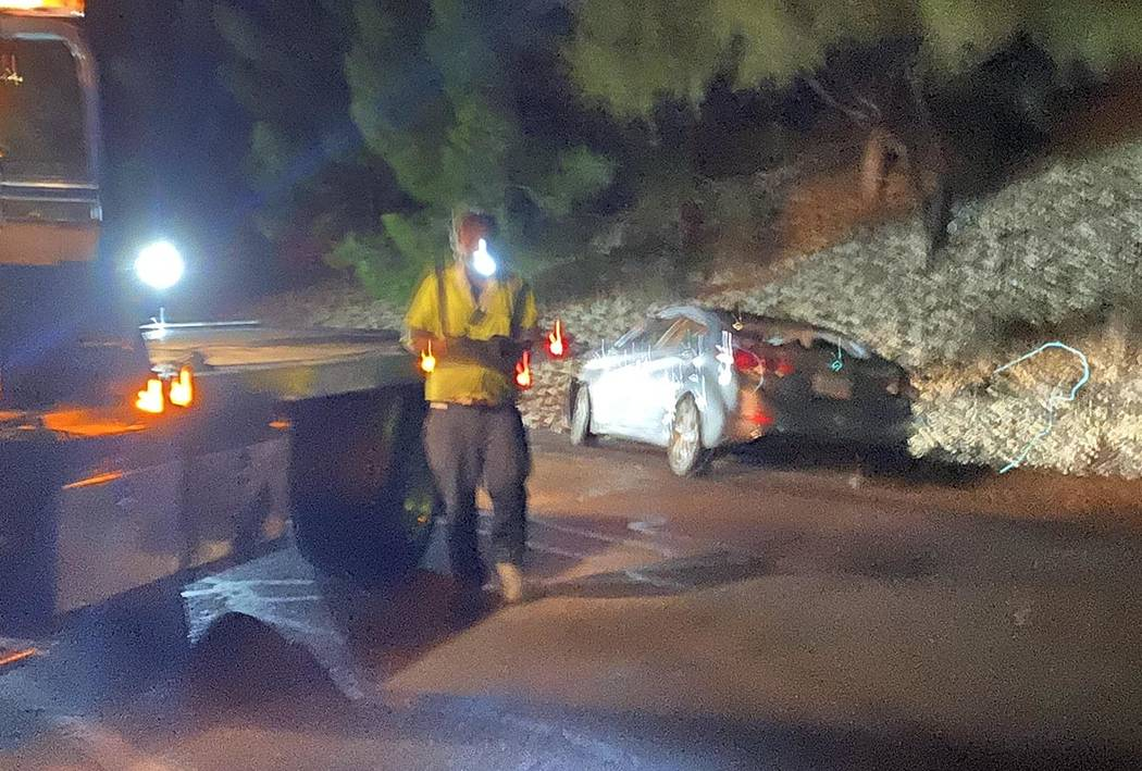 A motorist suffered minor to moderate injuries Thursday, Jan. 9, 2020, when they rolled their c ...