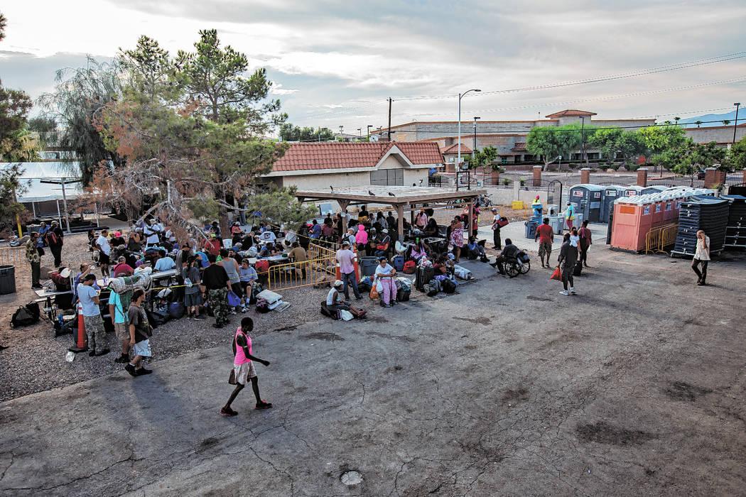 The Courtyard Homeless Resource Center in Las Vegas, Wednesday, July 24, 2019. The center recen ...