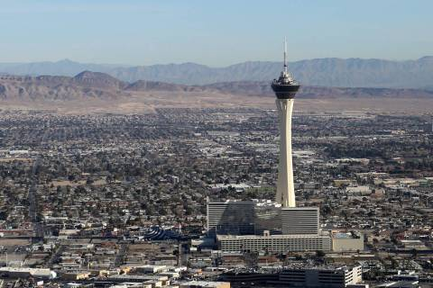 A windy Friday, Jan. 10, 2020, will calm for a sunny and slightly cooler than normal Las Vegas ...