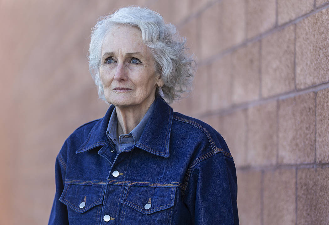 Margaret Rudin outside the Las Vegas Review-Journal on Friday, Jan. 10, 2020, hours after being ...