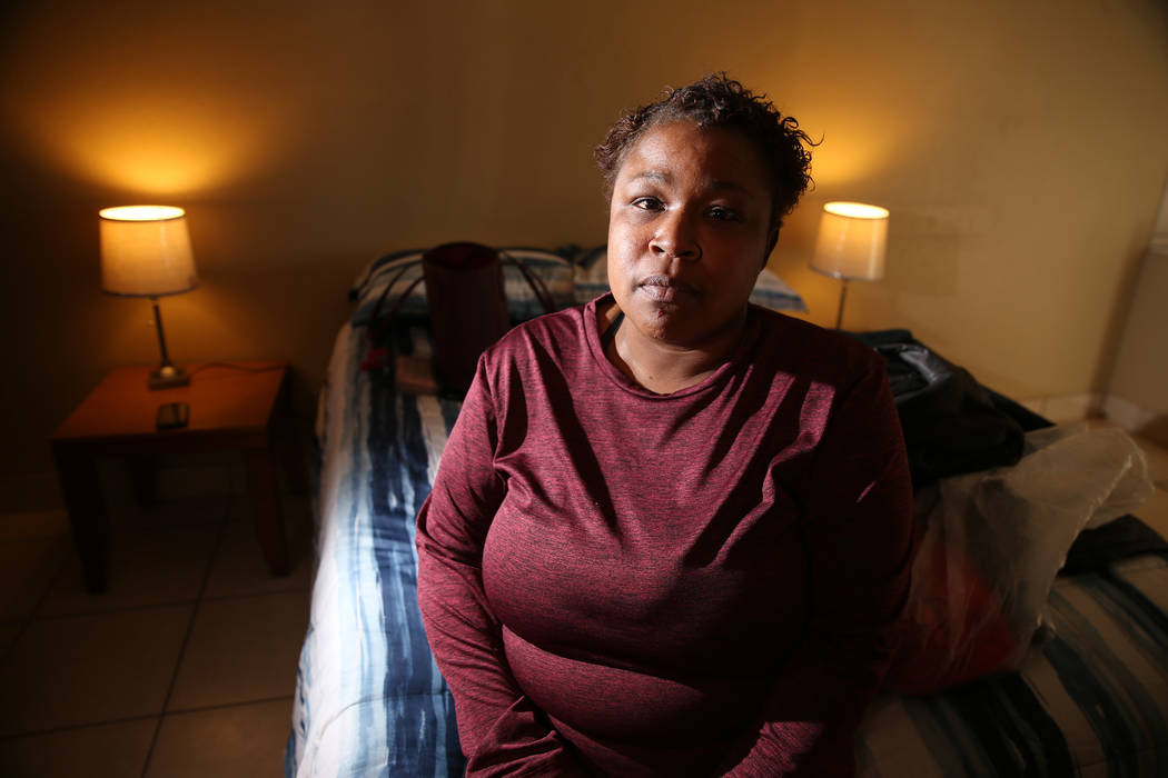 Tia Dotson, a former resident of the burned down Alpine Motel Apartments, is living in a new ap ...
