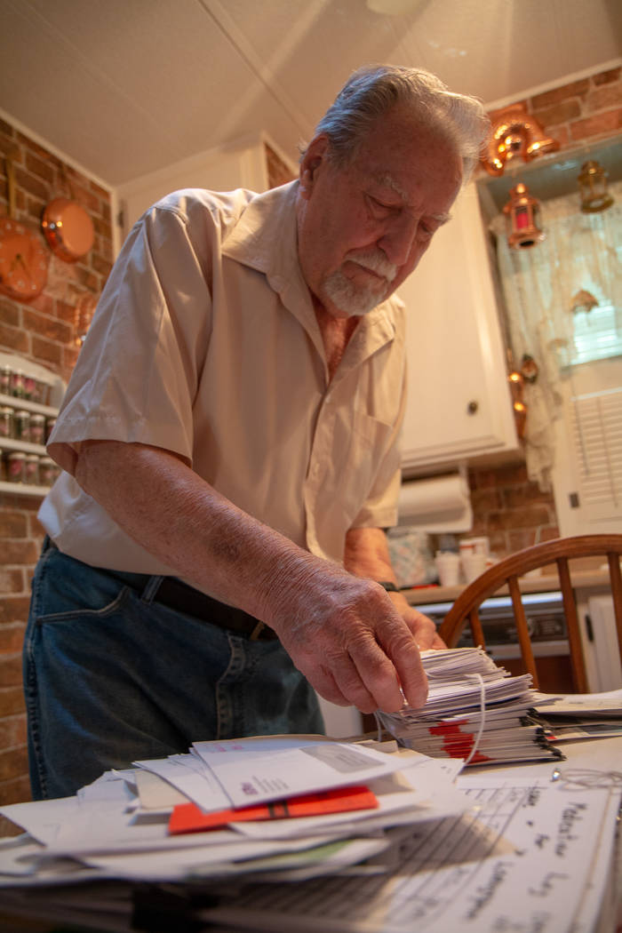 Sparks resident James Mesinger, 82, has for years fought toll bills from other states like Cali ...