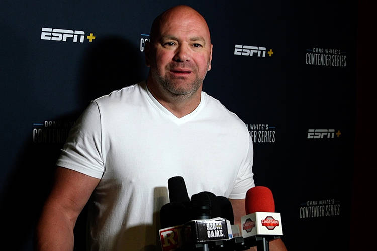 UFC president Dana White. (Heidi Fang/Las Vegas Review-Journal)