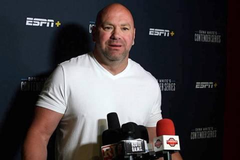 UFC president Dana White. (Heidi Fang/Las Vegas Review-Journal)
