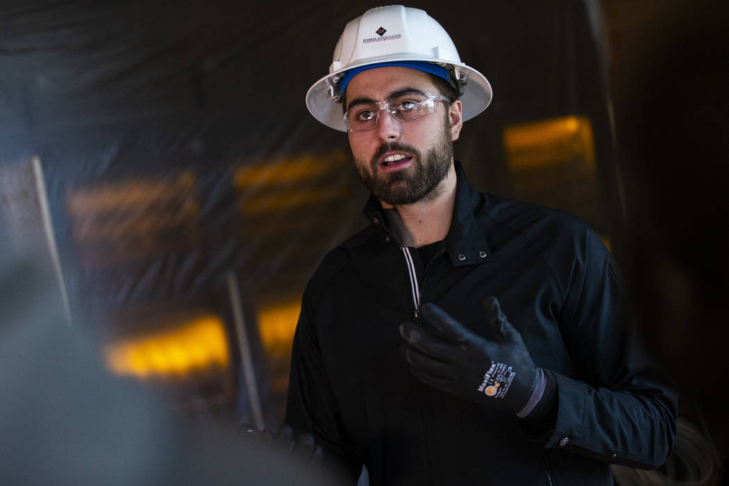 Golden Knights' Alex Tuch talks about the space that will become the Wolfgang Puck Players Lock ...